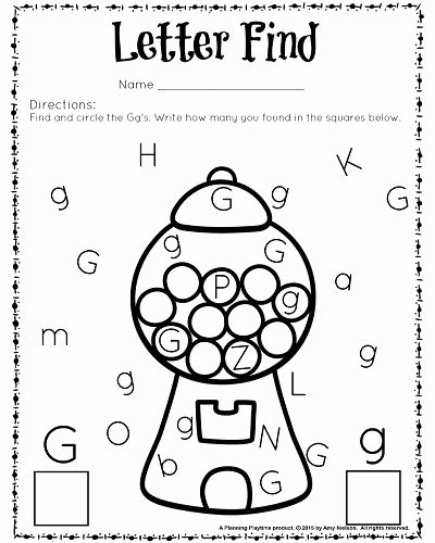 Free Printable Letter G Worksheets for Preschoolers Fresh Cute Letter Find Worksheets with A Freebie Planning