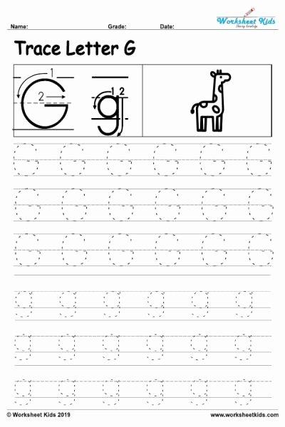 Free Printable Letter G Worksheets for Preschoolers New Letter G Alphabet Tracing Worksheets Free Printable Pdf