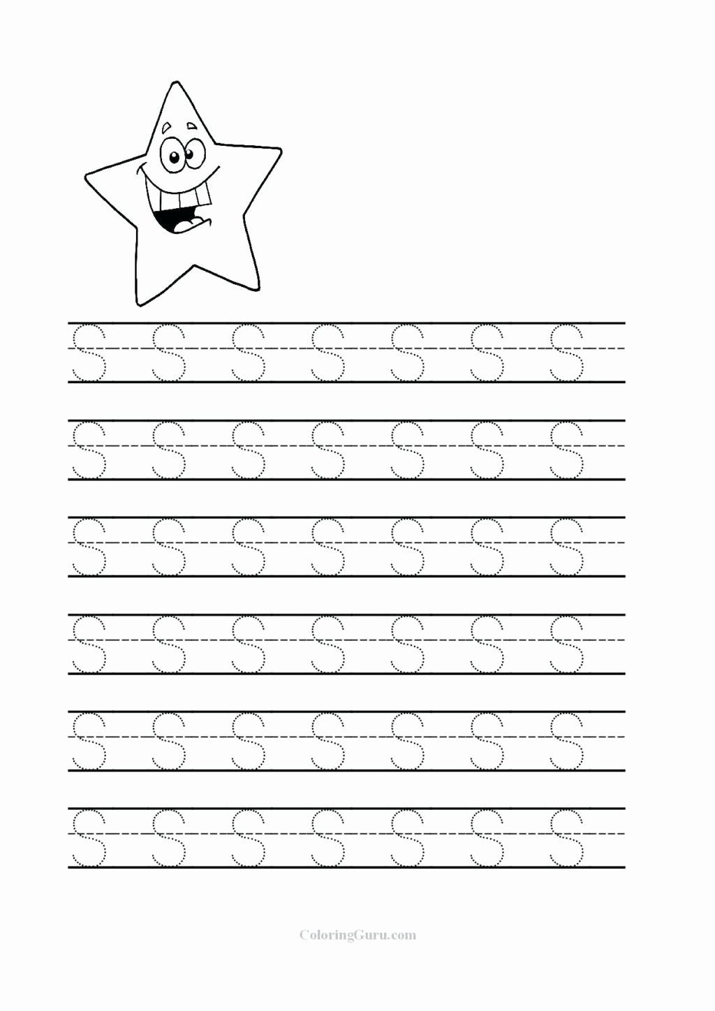 Free Printable Letter S Worksheets for Preschoolers Best Of Worksheet Preschool Tracing Letters Worksheet Free