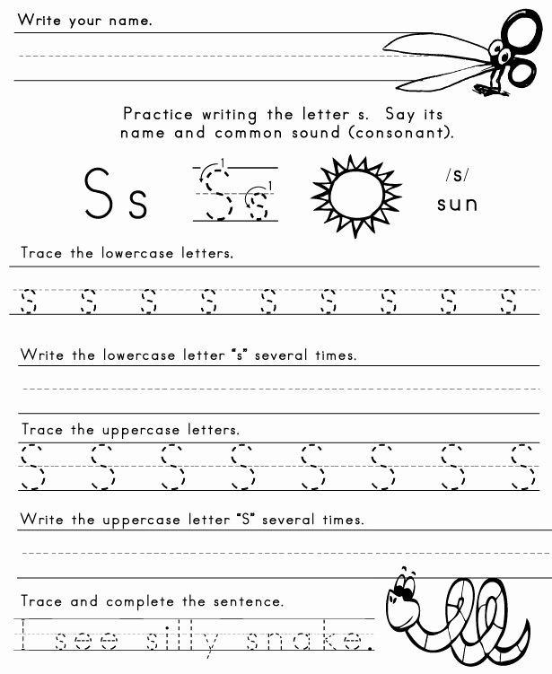 Free Printable Letter S Worksheets for Preschoolers Free Coloring Pages Letter S Printable Worksheets Preschool