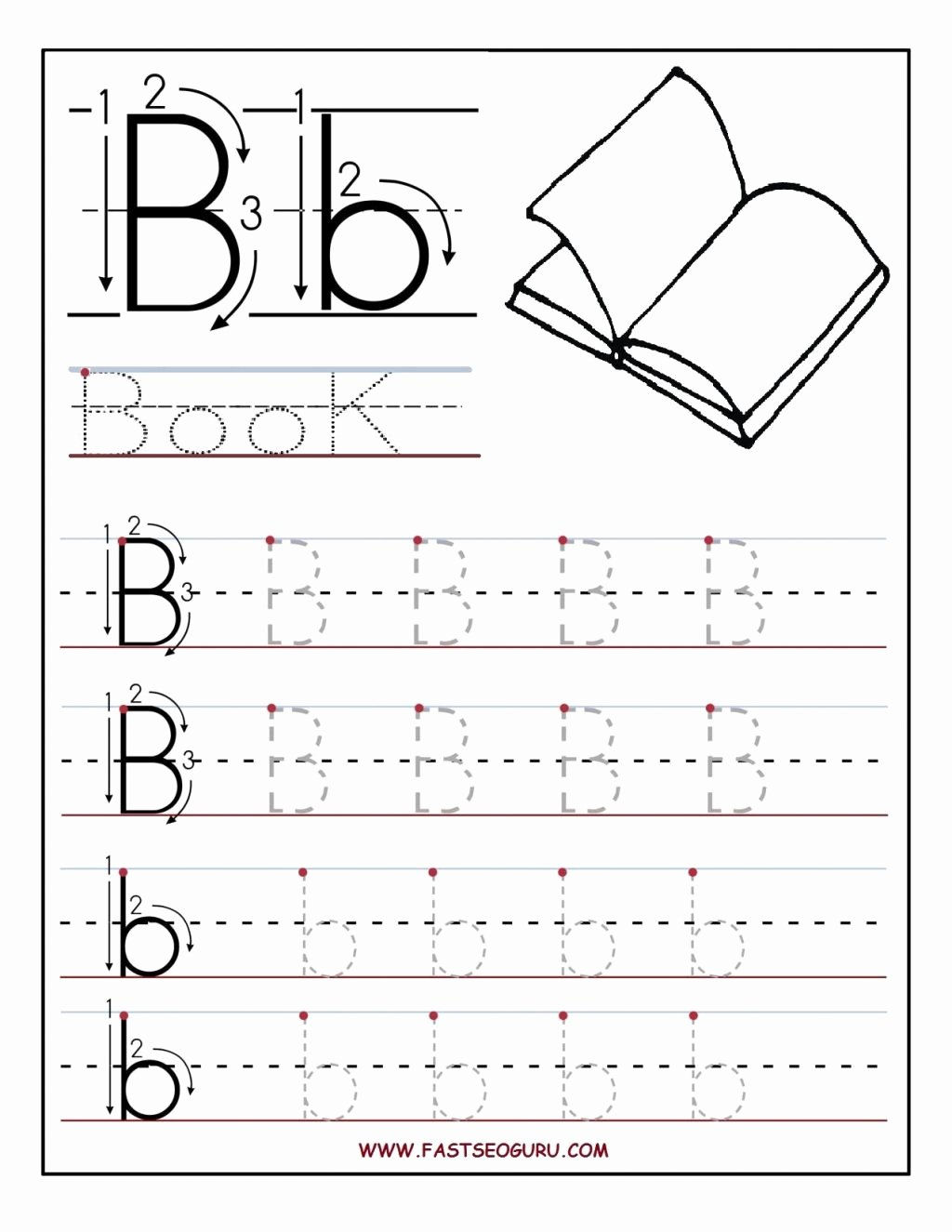 Free Printable Letter Tracing Worksheets for Preschoolers Printable Worksheet Free Pre K Printables Worksheet Printable Letter