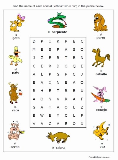 Free Printable Worksheets for Preschoolers In Spanish Ideas Free Animals Worksheets