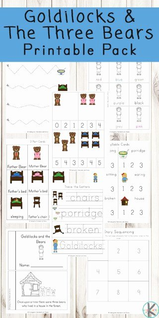 Goldilocks and the Three Bears Worksheets for Preschoolers Inspirational Free Goldilocks and the Three Bears Worksheets