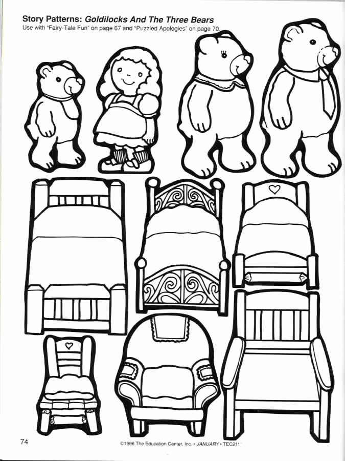 Goldilocks and the Three Bears Worksheets for Preschoolers Inspirational Goldilocks and the Three Bears Coloring Pages Az Coloring