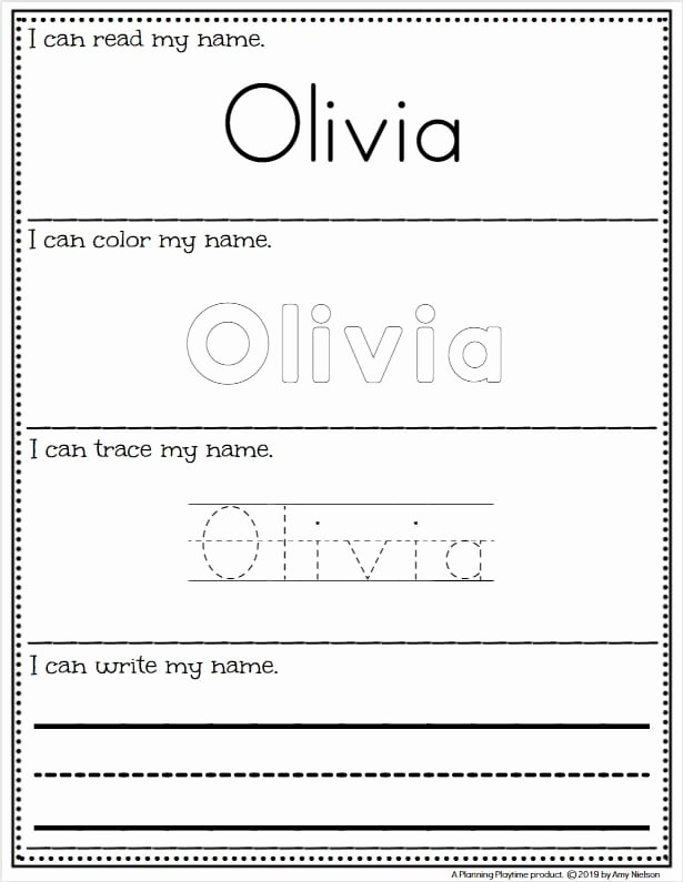 Learning to Write Your Name Worksheets for Preschoolers Free Name Tracing Worksheets Planning Playtime Kindergarten