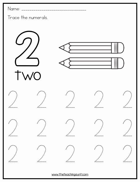 Number 1 and 2 Worksheets for Preschoolers Best Of Trace and Color Numbers 1 10 the Teaching Aunt