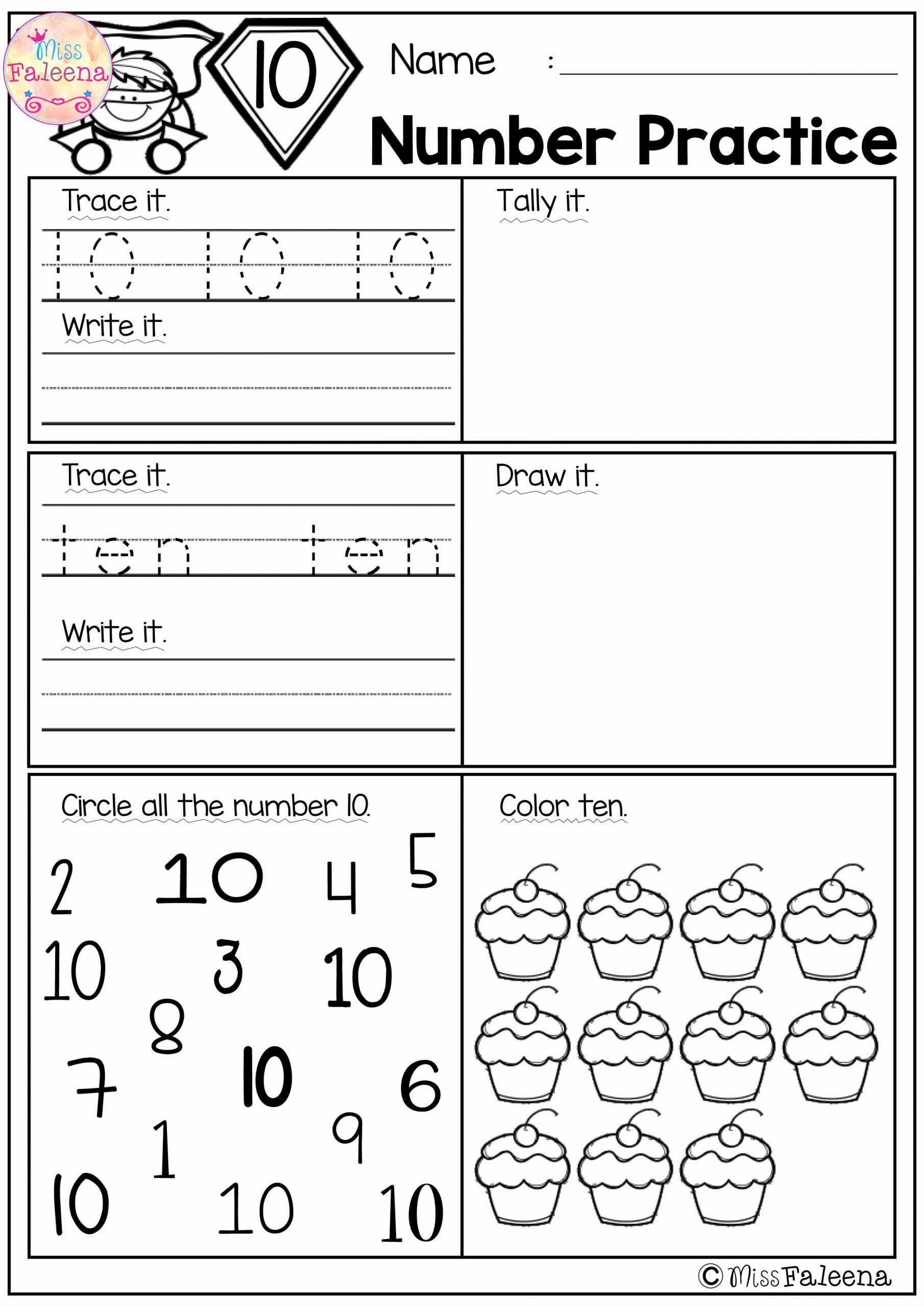 Number 1 and 2 Worksheets for Preschoolers Printable there are 20 Pages 1 20 Number Practice Worksheets In This