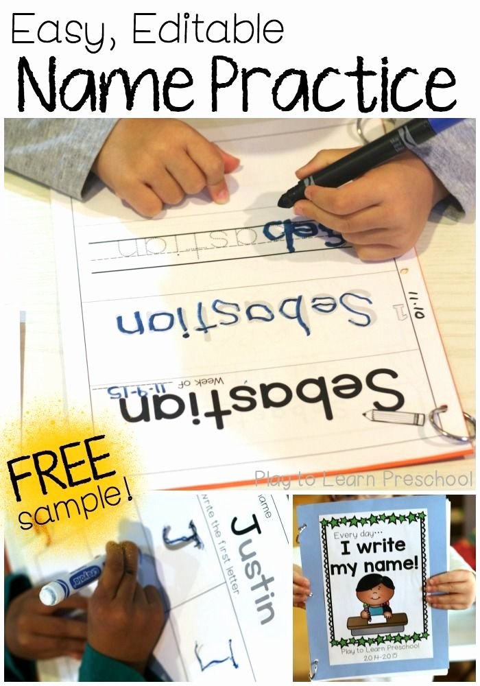 Printable Worksheets for Preschoolers to Write their Name Inspirational Easy Printable Name Practice Worksheets