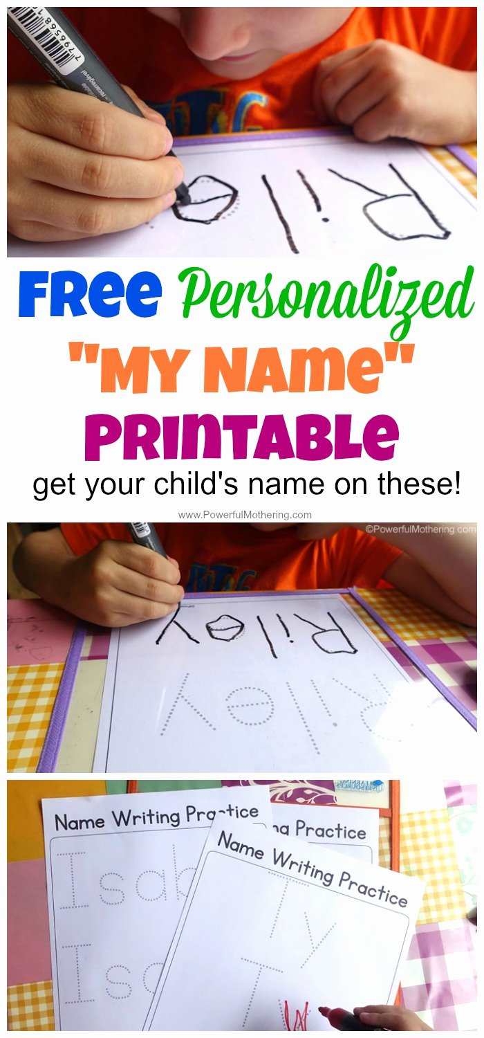 Printable Worksheets for Preschoolers to Write their Name Lovely Free Name Tracing Worksheet Printable Font Choices