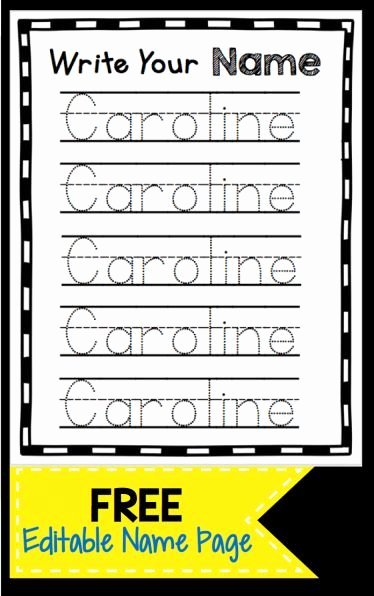 Printable Worksheets for Preschoolers to Write their Name top Learn to Write Your Name Freebie Use This Free Printable