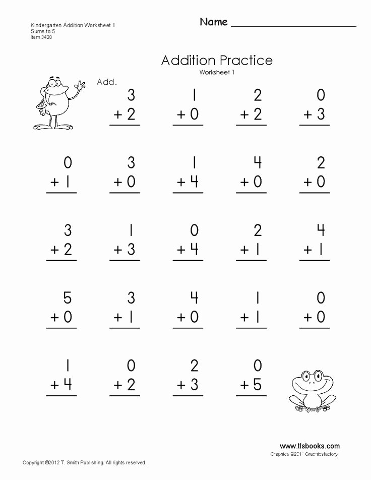 Simple Addition and Subtraction Worksheets for Preschoolers Inspirational Addition Subtraction Numbers 1 10 Kinder Lessons Tes Teach