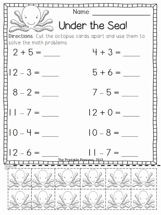 Simple Addition and Subtraction Worksheets for Preschoolers Kids Coloring Pages Addition and Subtraction Worksheets for