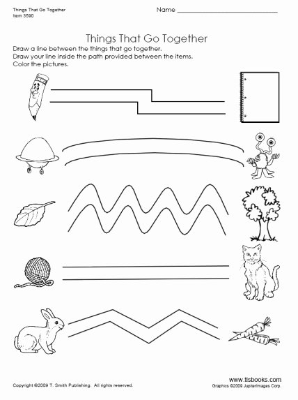 Things that Go together Worksheets for Preschoolers Ideas Things that Go to Her