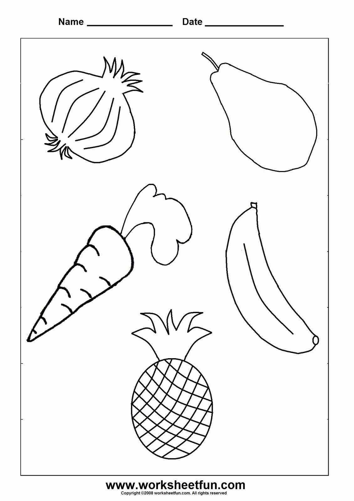 Worksheets for Preschoolers On Fruits and Vegetables Free Тема My Food садочок