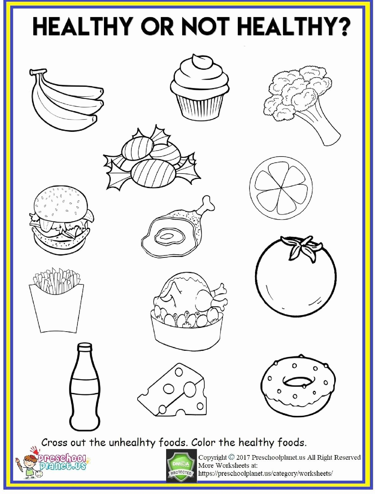 Worksheets for Preschoolers On Fruits and Vegetables Kids 4 Food Worksheets Preschool Fruits and Ve Ables