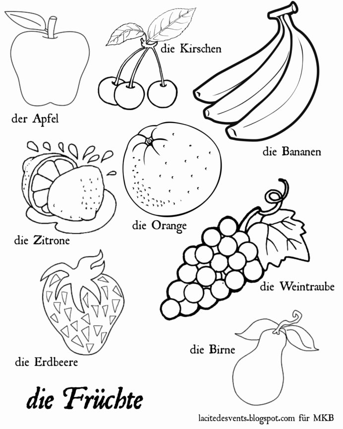 Worksheets for Preschoolers On Fruits and Vegetables Kids Coloring Fruits and Ve Ables Worksheets