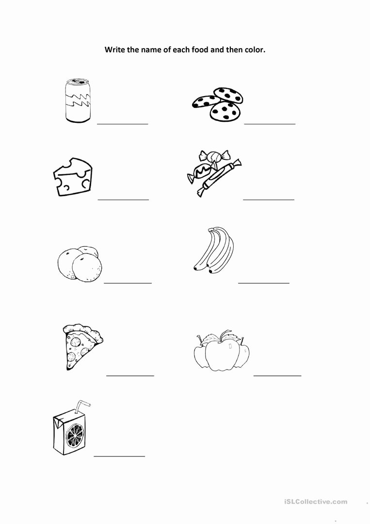 Worksheets for Preschoolers to Write their Name Ideas Worksheet Write the Name and Color English Esl Worksheets