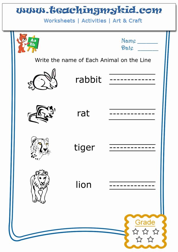 Worksheets for Preschoolers to Write their Name Printable Coloring Pages English Worksheet for Preschool Free